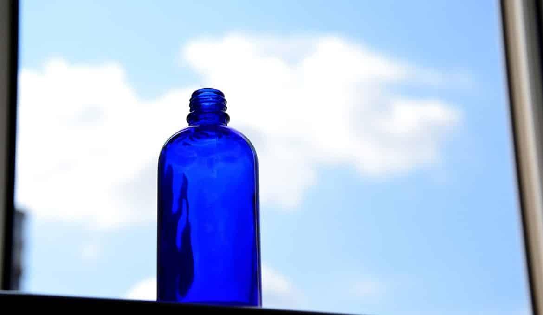 eau solaire bleue