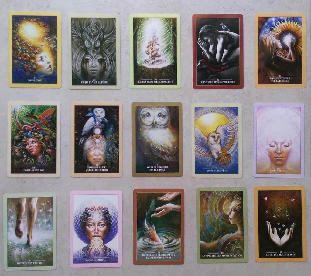 Aperçu des cartes de l'Oracle des rebelles sacrés